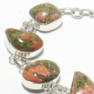 Un 029c bracelet unakite 28gr 15x20mm achat vente bijou mineraux lithotherapie argent 925