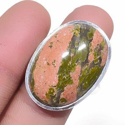 Un 041a bague chevaliere unakite 11gr t60 18x28mm achat vente bijou pierre argent 925