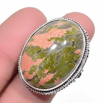 Un 048a bague chevaliere unakite 16gr t59 20x28mm achat vente bijou pierre argent 925