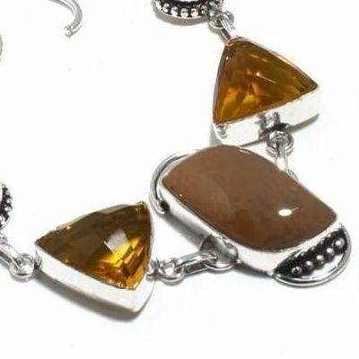 Un 052b bracelet unakite citrine 28gr 15x30mm achat vente bijou lithotherapie argent 925