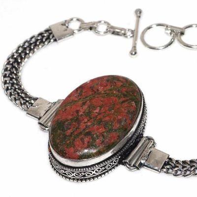 Un 087b bracelet unakite 26gr 22x35mm achat vente bijou lithotherapie argent 925