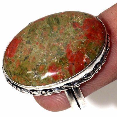 Un 100c bague chevaliere unakite 9gr t55 20x28mm achat vente bijou pierre argent 925