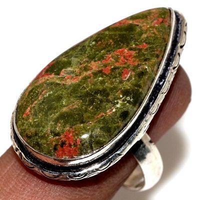 Un 109a bague chevaliere unakite 11gr t60 18x32mm achat vente bijou pierre argent 925